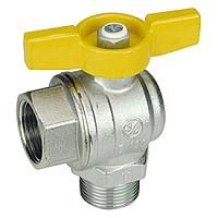 Шаровой кран латунный ВР-НР, полнопроходный, для газа, ручка-бабочка, Giacomini R780, Ду20, 42 бар R780GBX004