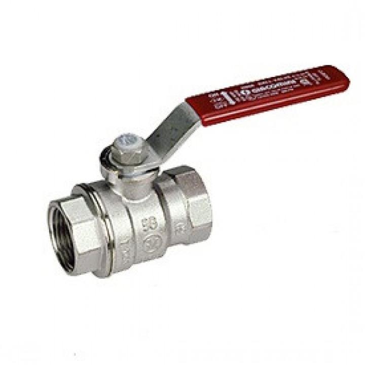 Кран шаровой латунь хром R850 Ду 65 Ру28 ВР полнопроходной рычаг GiacominiR850X029
