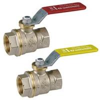 Кран шаровой латунь никель газ R910 Ду 25 Ру12 ВР полнопроходной рычаг GiacominiR910X005