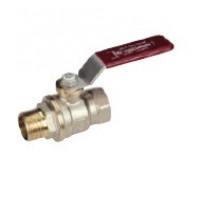 Кран шаровой латунь никель R914L Ду 25 Ру35 ВР/НР полнопроходной рычаг GiacominiR914LX025