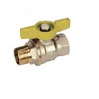 Кран шаровой латунь никель газ R914 Ду 20 Ру12 ВР/НР полнопроходной бабочка GiacominiR914X004