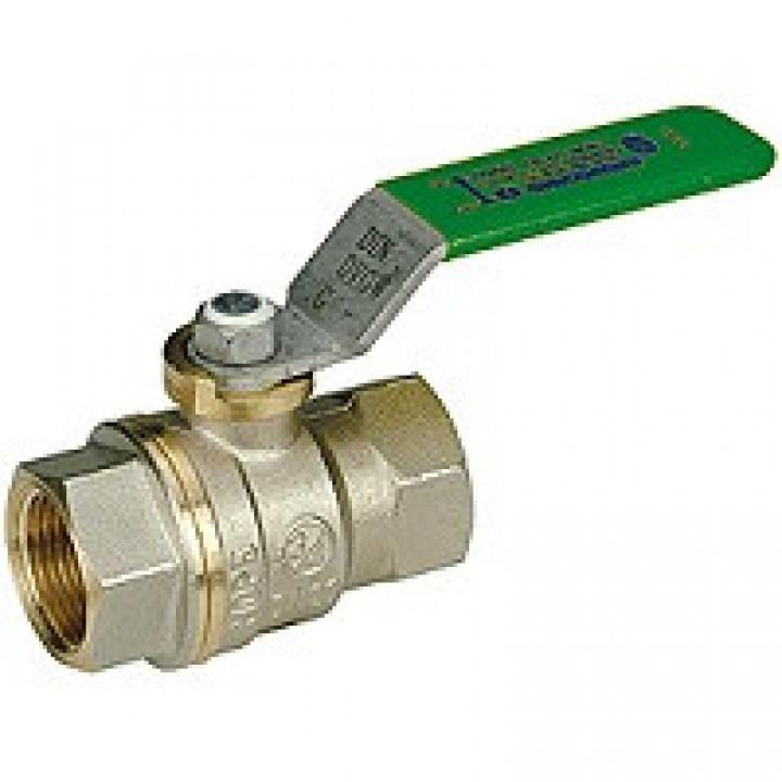 Кран шаровой латунь никель R950W Ду 32 Ру35 ВР полнопроходной рычаг GiacominiR950WX006