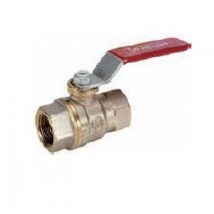 Кран шаровой латунь никель R950 Ду 40 Ру35 ВР полнопроходной рычаг GiacominiR950X027
