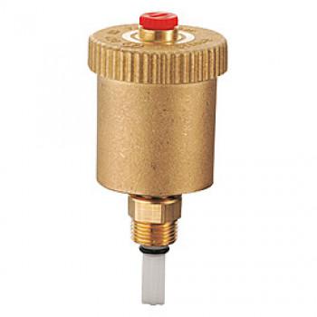Воздухоотводчик автоматический латунь R99I Ду 15 Ру14 G1/2 НР прямой с запорным клапаном GiacominiR99IY003