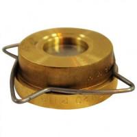 Клапан обратный латунь осевой RK41 Ду 15 Ру16 Тмакс=250 оС межфл диск нерж GestraRK41015