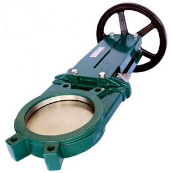 Задвижка шиберная односторонняя чугун VG3400-001NI Ду 80 Ру10 межфл со штурвалом уплотнение: нитрил TecofiVG3400-001NI0080