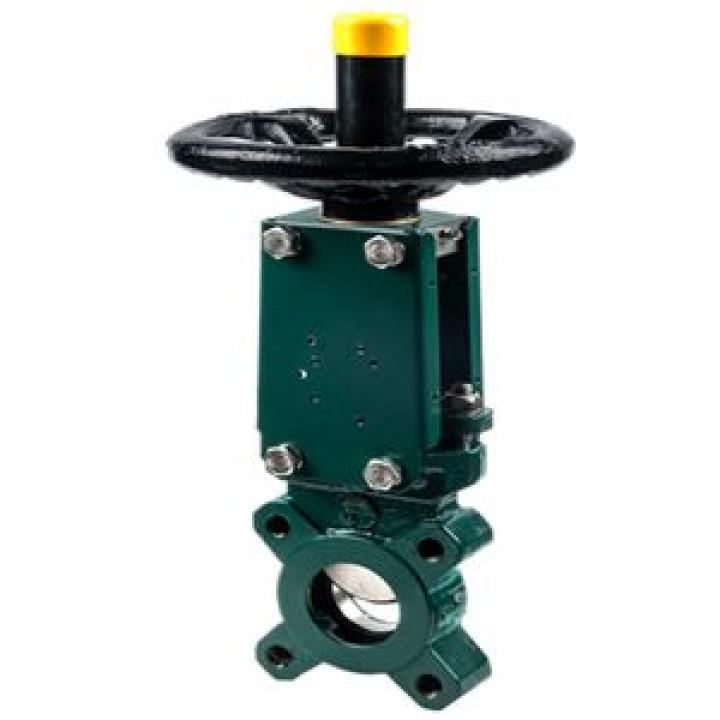 Задвижка шиберная односторонняя чугун VG3400-04NI Ду 200 Ру10 межфл под эл/привод уплотнение: нитрил TecofiVG3400-004NI0200