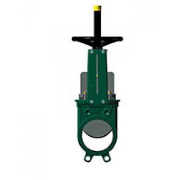 Задвижка шиберная односторонняя чугун VG3400-00NI Ду 250 Ру10 межфл со штурвалом уплотнение: нитрил TecofiVG3400-00NI0250