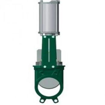 Задвижка шиберная односторонняя чугун VG3400-03MM Ду 350 Ру7 межфл с пн/приводом 2/сторонн уплотнение: металл TecofiVG3400-03MM0350