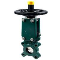 Задвижка шиберная односторонняя чугун VG3400-04NI Ду 150 Ру10 межфл под эл/привод уплотнение: нитрил TecofiVG3400-04NI0150