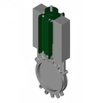 Задвижка шиберная односторонняя нерж VG6400-00EP Ду 100 Ру10 межфл со штурвалом уплотнение: ЭПДМ TecofiVG6400-00EP0100