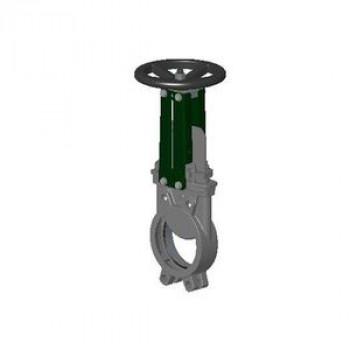 Задвижка шиберная двусторонняя чугун VGB3400N-001NI Ду 400 Ру7 межфл со штурвалом уплотнение: нитрил TecofiVGB3400N-001NI0400