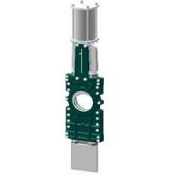 Задвижка шиберная односторонняя чугун VGT3400-03NI Ду 150 Ру10 межфл с пн/приводом 2/сторонн уплотнение: нитрил TecofiVGT3400-03NI0150