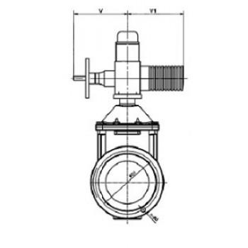 Задвижка чугунная с обрезиненным клином VOC4241 с электроприводом, корпус F4, Tecofi, Ду100 VOC4241CM-U04EP0100