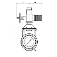 Задвижка чугунная с обрезиненным клином VOC4241 с электроприводом, корпус F4, Tecofi, Ду150 VOC4241CM-U04EP0150