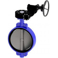 Затвор дисковый поворотный чугун VPE4408-08EP Ду 400 Ру10 межфл с редуктором диск чугун манжета EPDM HT TecofiVPE4408-08EP0400