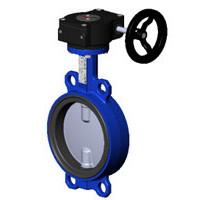 Затвор дисковый поворотный чугун VPI4449-08EP Ду 150 Ру16 межфл с редуктором диск нерж манжета EPDM TecofiVPI4449-08EP0150