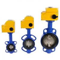 Дисковый поворотный затвор межфланцевый Tecfly VPI 4449 с электроприводом Nutork, Tecofi, Ду80 VPI4449-N04EP0080