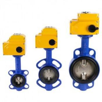 Дисковый поворотный затвор межфланцевый Tecfly VPI 4449 с электроприводом Nutork, Tecofi, Ду250 VPI4449-N24EP0250