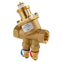 Комбинированный балансировочный клапан НР-НР VPP46..Q с ниппелями измерения давления, Siemens VPP46.10L0.2Q