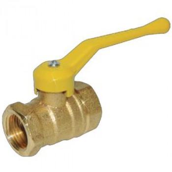 Кран шаровой латунь газ 11б27п6 Ду 25 Ру16 ВР рычаг ЦветлитZW10100