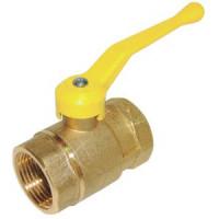 Кран шаровой латунь газ 11б27п4 Ду 25 Ру16 ВР полнопроходной рычаг ЦветлитZW10106
