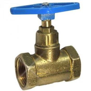 Клапан запорный латунь 15б3р Ду 20 Ру16 ВР прямой ТУ 206-3973235-01-93 ЦветлитZW20006