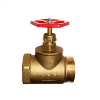 Клапан запорный латунь 15б1р Ду 50 Ру16 ВР/НР прямой ТУ РБ 500059277.015-2000 ЦветлитZW20022