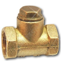 Клапан обратный латунь подъемный Ду 15 Ру16 Тмакс=70 оС ВР G1/2 золотник латунь ЦветлитZW20026