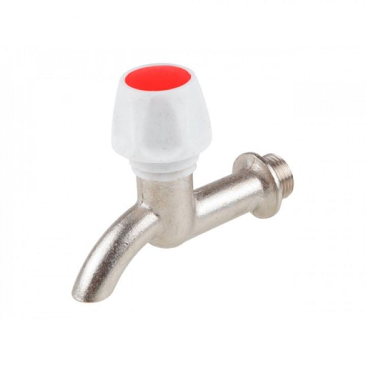 Клапан седловой водоразборный латунь без штуцера КрН15 Ду 15 Ру6,3 НР G1/2 маховик настенный ЦветлитZW20031