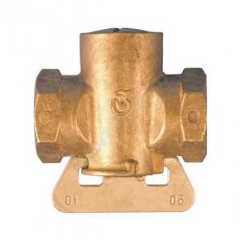 Кран конусный латунь газ 11б12бк Ду 20 Ру0,1 G3/4 ВР полнопроходной ЦветлитZW30007