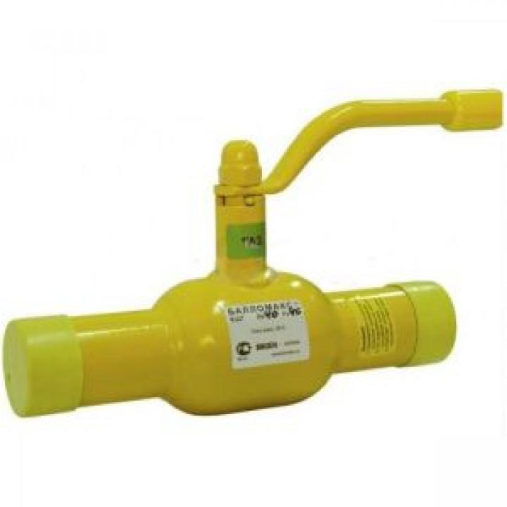 Шаровой стальной кран для газа сварка/сварка, с рукояткой, Broen Ballomax, Ду25, 40/12 бар КШГ 70.102.025.А