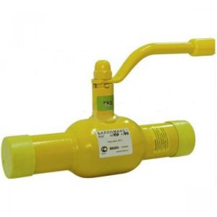 Шаровой стальной кран для газа сварка/сварка, с рукояткой, Broen Ballomax, Ду32, 40/12 бар КШГ 70.102.032.А