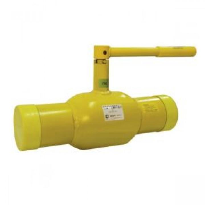 Шаровой стальной кран для газа сварка/сварка, с рукояткой, Broen Ballomax, Ду80, 25/12 бар КШГ 70.102.080.А