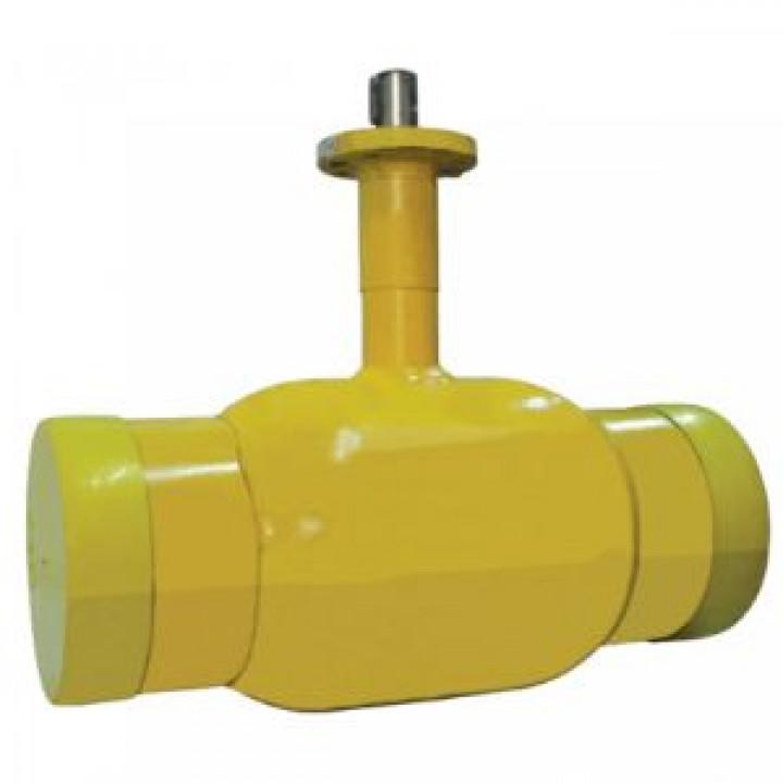 Шаровой стальной кран для газа сварка/сварка, с ИСО-фланцем, Broen Ballomax, Ду125, 25/12 бар КШГ 71.102.125