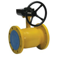 Шаровой стальной кран для газа фланец/фланец, c редуктором, Broen Ballomax, Ду125, 16/12 бар КШГ 71.103.125.Р