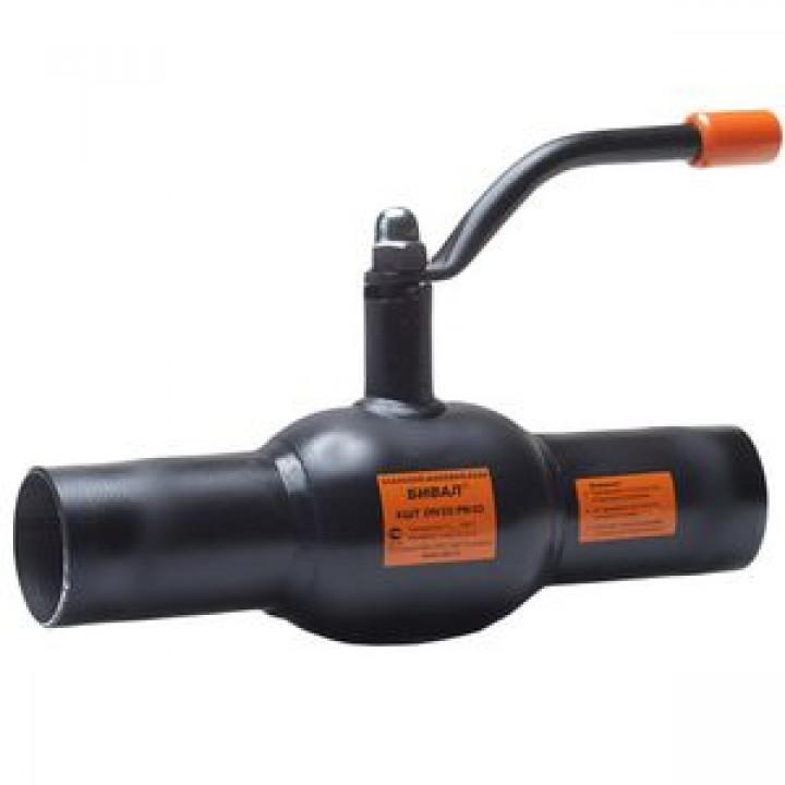 Кран шаровой сталь Бивал Ду 25 Ру40 п/привар термостойкая эмаль ADLКШТ.12.025.40
