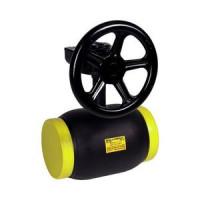Кран шаровой сталь Ballomax КШТ 61.112 Ду 100 Ру25 п/привар ISO-фл и рукоятка полнопроходной BROENКШТ 61.112.100