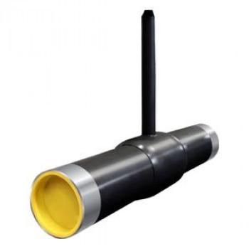 Кран шаровой сталь газ КШ.Ц.П Ду 80 Ру25 п/привар Т-ключ полнопроходной с удл. штоком Н=1500мм LDКШ.Ц.П.GAS.080.025.П/П.02.Н=1500