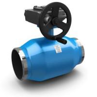 Шаровой стальной кран сварка/сварка полнопроходной Energy с механическим редуктором, LD, Ду400, 16 бар КШЦП Energy 400.016.03п/п