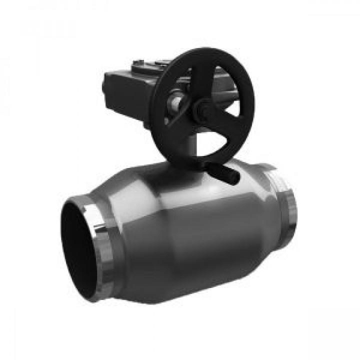 Шаровой стальной кран сварка/сварка полнопроходной, с редуктором, LD, Ду80, 16 бар КШ.Ц.П.Р.080.016.02полн.