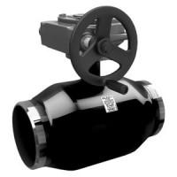Шаровой стальной кран для газа сварка/сварка, c механическим редуктором, полнопроходной, LD, Ду100, 25 бар КШ.Ц.П.Р.100.025.П/П.02