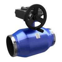 Шаровой стальной кран для газа сварка/сварка, c механическим редуктором, LD, Ду400, 16 бар КШ.Ц.П.Р.400/350.016.Н/П.02