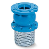 Клапан обратный чугун осевой СС3241 Ду 125 Ру16 Тмакс=100 оС фл диск чугун с приемной сеткой TecofiСС3241-0125